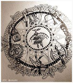 Totem Tattoo, Small Tattoos, Cool Tattoos, Tatoos, Religion In Africa, Shango Orisha, Orishas Yoruba, Sea Tattoo, Mandalas Drawing