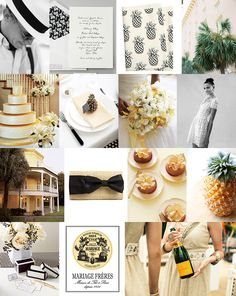 Preppy Pineapple Inspiration Board | Snippet & Ink