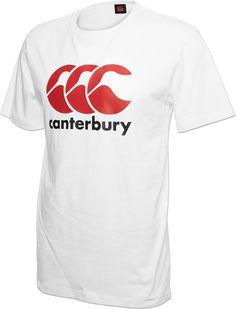 Tee-shirt logo CCC blanc/rouge - Canterbury Rugby, Tee Shirts, Tees, Canterbury, Sport, Logos, Mens Tops, Fashion, T Shirts