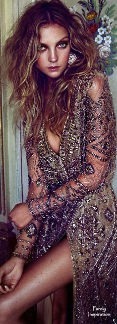 Elle Russia,  Emilio Pucci FW2014 (gown), Heather Marks (Model) , Xavi Gordo (Photographer)   Purely Inspiration