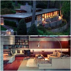 The Frank Lloyd Wright Marden House. We love mid-century modern architecture at Midcenturyhome.com. Click on the image to see more! What do you know about it? Found on our favourite FCB