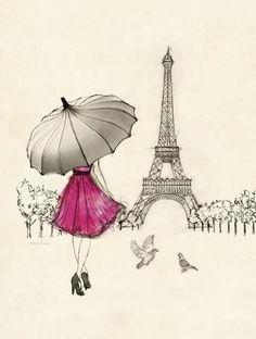Sketching a Parisian Memory Art Print by Morgan Yamada at Art.com