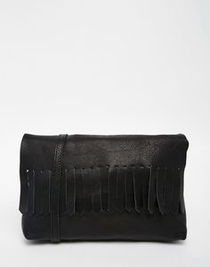 98379535bf4 ASOS Soft Leather Cross Body Bag With Fringing Leather Crossbody Bag,  Leather Bags, Soft