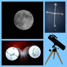 {Nighttime Science Activities} - Make your own constellations, books about stars and many more moon/star activities!