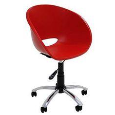 Cadeira Tramontina Elena com Rodízios - Vermelho - Cadeiras de Escritório no Extra.com.br