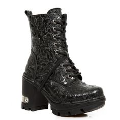 M.NEOTYRE06-C1 VINTAGE FLOWER NEGRO NEOTRYE NEGROCAS New Rock Boots, Goth Shoes, Outfit Goals, Shoe Shop, Me Too Shoes, Combat Boots, Shoe Boots, Biker, Leather