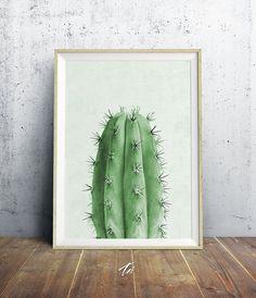 Cactus Plant, Cactus Print, Cactus Wall Art, Cactus Decor, Cacti, Light Green…