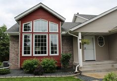 Add a splash of color with #JamesHardie siding! This customer chose red to make the accents POP! Love it.