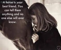 that is why i always talk to horses... i swear im not the only one