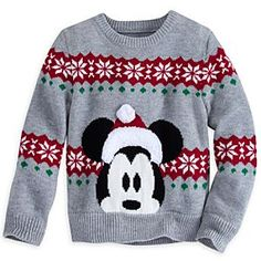 Baby will be an elfin delight for the holidays in this traditional pullover sweater with woven Mickey and snowflake design, plus festive furry trims. Button shoulders make for trouble-free changing. Mickey Mouse Christmas, Disney Christmas, Disney Holidays, Christmas Decor, Merry Christmas, Ugly Sweater, Ugly Christmas Sweater, Christmas Clothes, Disney Outfits