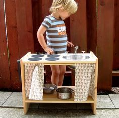 10 Cool DIY IKEA Play Kitchen Hacks | Kidsomania, ok, I already made this, I just thought it was cool someone else linked to it :)