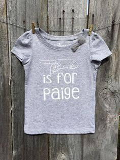 Children's Name Sign Shirt in American Sign Language by PisforPip