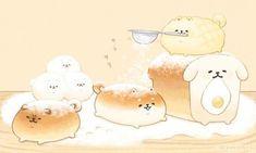 Dogs illustration shiba 62 ideas for 2019 Cute Food Drawings, Cute Animal Drawings Kawaii, Kawaii Art, Cute Food Art, Cute Art, Cute Cartoon Food, Cute Cartoon Wallpapers, Animes Wallpapers, Dibujos Cute