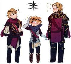Fire Emblem Fates - Siegbert, Kana, and Xander
