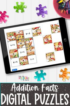 These digital puzzles are perfect to practice addition facts. Fun and engaging way to improve addition fact fluency! Great to use during independent work, partner work & distance learning. Would be the perfect review activity to assign for virtual learning days in a hybrid learning model. These no prep, self checking digital puzzles work on any device with internet.