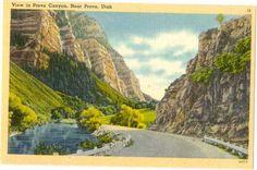 Linen View in Provo Canyon near Provo Utah UT - bidStart (item 16886712 in Postcards... Provo)