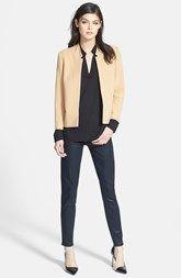 Trouvé Blazer, Ro & De V-Neck Blouse & Paige Denim Jeans