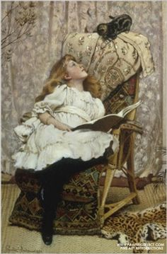 """""""A Rival Attraction"""" by  Charles Burton Barber"""