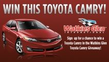 Win a brand new Toyota Camry