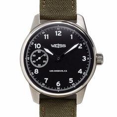 Weiss Standard Issue Field Watch <br> Black Dial