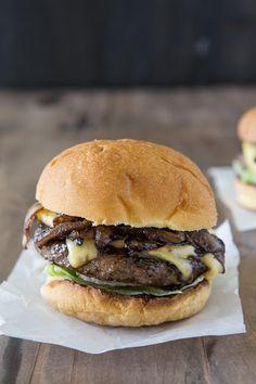 Caramelized Onion Gouda Burger Recipe on Yummly