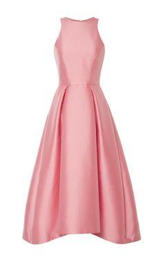 Silk Mikado Structured Midi Dress by Monique Lhuillier Now Available on Moda Operandi