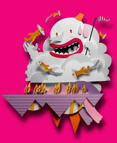 Nokia wallpaper 2 by Bomboland , via Behance - color/childlike/cutout/story