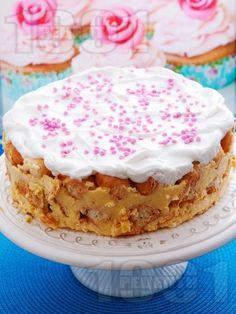 Лесна торта с кроасани и ванилов крем
