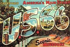 vintage postcards missouri   ... vintage icons along the old highway, many of which can still be