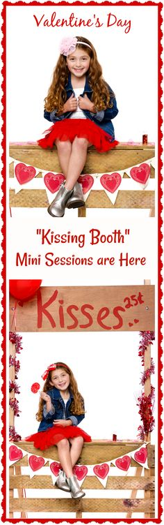 """Adorable Valentine's Day Mini Shoot """"Kissing Booth"""". Orange County Photography Team does it again!"""