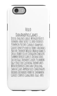 DanAndPhilGames phone case