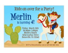 horse party invitations boy - Google Search