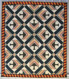 Pine Tree Quilt: Circa 1880; West Virginia, Stella Rubin