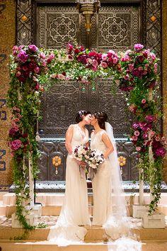 Glamorous New York Public Library Wedding Snippet & Ink Lgbt Wedding, Wedding Blog, Wedding Ceremony, Our Wedding, Wedding Photos, Wedding Ideas, Wedding Stuff, Lesbian Wedding Photography, Library Wedding