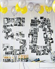 Unbelievable Adult Party Ideas Use Martha Stewart& Ideas to find simple, affordable adult birthday party themes. Adult Birthday Party, Mom Birthday, Birthday Wall, Surprise Birthday, Classy Birthday Party, Golden Birthday, Special Birthday, 18th Birthday Present Ideas, 50th Birthday Gifts For Men
