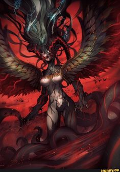 Safebooru is a anime and manga picture search engine, images are being updated hourly. Female Monster, Fantasy Monster, Monster Art, Fantasy Creatures, Mythical Creatures, Fantasy Character Design, Character Art, Tiamat Dragon, Anime Monsters
