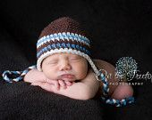 6 to 12 Months Baby Boy Organic Earflap Hat, Coffee Brown, Beige and Caramel. Very Soft. Photo Props. Fall Collection. Rustic. Autumn.. $28.00, via Etsy.
