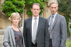 Clare Holman, Kevin Whately, & Laurence Fox (Lewis)