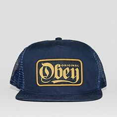Caps OBEY Stout Trucker Bleu Destinations ce5ddf23a4