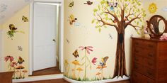 Woodland Fairies Murals by Muralistick. A perfect way to turn your daughter's room into a magical garden for her dreams to grow! Check out more themes for your little princess here: www.muralistick.com