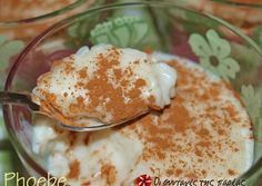 Rice pudding with sweetened condensed milk Greek Sweets, Greek Desserts, Kinds Of Desserts, No Cook Desserts, Greek Recipes, Easy Desserts, Dessert Recipes, Tart Recipes, Cooking Recipes