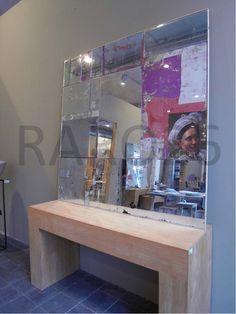 #Specchio anticato #design (specchi sovrapposti a antiche stampe)