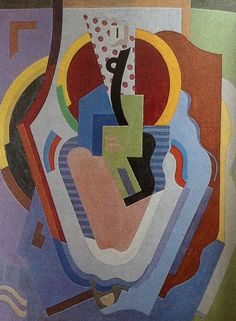 'Composition (Madonna and Child)' 1930 Casein on Canvas by Albert Gleizes.