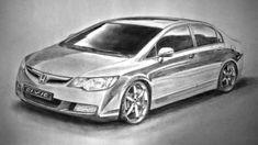 Honda civic рисунок карандашом 2012год #Honda #civic #рисунок #карандашом