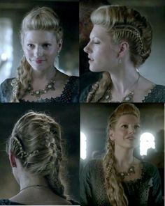 Lagertha's hair from Vikings ep I don't think I can do this one by # viking Braids lagertha Pretty Hairstyles, Girl Hairstyles, Braided Hairstyles, Wedding Hairstyles, Viking Hairstyles, Warrior Braid, Lagertha Hair, Viking Braids, Hair Dos