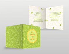 #Einladung #Geburtstag #Grün #Muster #Karte
