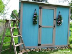 Whitney's Workshop: Operation: Coop That Chicken!,,plans from Ana White Easy Chicken Coop, Diy Chicken Coop Plans, Building A Chicken Coop, Building A Shed, Garden Storage Shed, Outdoor Storage Sheds, Diy Shed, Ana White, Free Shed