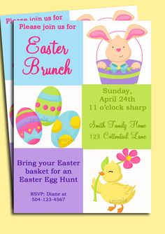 Easter Invitation Printable Brunch Easter Egg by ThatPartyChick