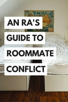 Tips from a college RA about how to deal with college roommate conflicts and difficult roommates without going crazy! This is a great pin to look over before the start of the term for the inevitable conflicts that will arise! Ra College, College Roommate, College Hacks, College Life, College Students, College Movies, College Checklist, College Success, College Planning