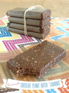 "homemade chocolate peanut butter ""larabars""..."